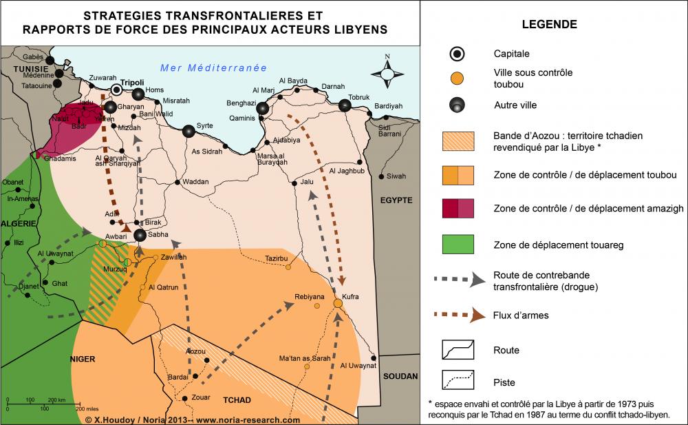 Stratégies transfrontalières et rapports de force des principaux acteurs libyens